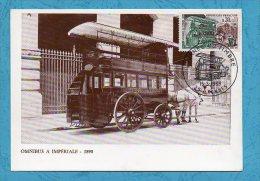 OMNIBUS A IMPERIALE 1890 - Transport Des Facteurs - Journée Du Timbre 1969  - Scans Recto/verso - 1960-69