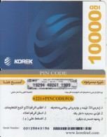 KURDISTAN(North IRAQ) - Korek Telecom Prepaid Card 10000 IQD, Used - Other – Asia