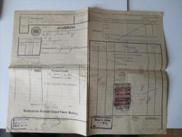 Frachtbrief 1920. Norddeutsche Portland Cement Fabrik Misburg. Güterabfertigung Hildesheim / Garbolzum - Historische Dokumente
