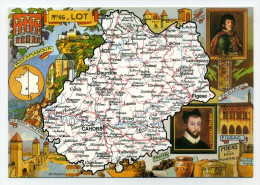 French Mapcard - Carte Géographique : Lot (dpt 46) - Carte Geografiche