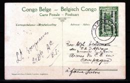 RUANDA URUNDI postkaart uit 1916 � entier de 1916  � OCCUPATION BELGE � used (KIGALI)