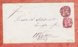 U 30 + Farbgleiche ZF, Weingarten Nach CH Weesen 1876 (61563) - Wurttemberg