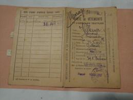 Carte De Vetements  1946 Delivre A Cherbourg-. - Documents