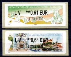 VIGNETTE - LISA - FRANCE - 2014 - 68éme SALON PHILATELIQUE D´AUTOMNE - PARIS - MARIANNE - FRANCE / SLOVAQUIE - 2 X 0,61 - 2010-... Vignettes Illustrées