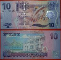 * FISH * FIJI 10 DOLLARS ND! NEW ISSUE!!! UNC CRISP! NO RESERVE! - Fidji