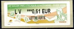 VIGNETTE - LISA 2 - FRANCE - 2014 - 68éme SALON PHILATELIQUE D´AUTOMNE - PARIS - MARIANNE - 0,61 - - 2010-... Vignettes Illustrées