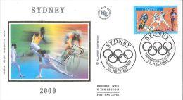 Enveloppe FDC Soie - Sydney - Jeux Olympiques - Arcueil - 2000 - FDC