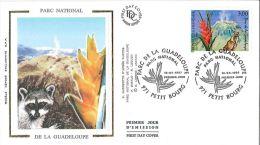 Enveloppe FDC Soie - Parc National De La Guadeloupe - Petit Bourg - 1997 - FDC