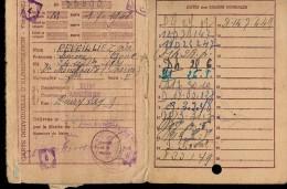 CARTE INDIVIDUELLE D´ALIMENTATION TITRE 3021 (ASNIERE 92 ) Service Du Rationnement 1948 - Cartes