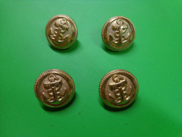 6 Boutons Encre  Marine-. - Boutons