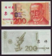 (Replica)China BOC Training/test Banknote,Germany B-2 Series 200 DM (Deep Colour)Deutsche Mark Note Specimen Overprint - [17] Falsi & Campioni