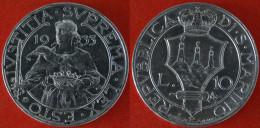 * IVSTITIA * SAN MARINO 10 LIRE 1933 UNCOMMON!!!  SILVER! NO RESERVE! - San Marino