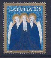 Latvia, Scott # 387 Used Christmas Angels Singing, 1994 - Lettonie