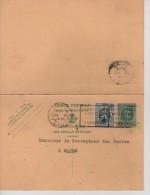 Entier 35c Houyoux + TP Avec Réponse Payée C. Gent En 1931 V. Eupen PR1309 - Stamped Stationery