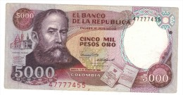 Colombia , 5000 Pesos 1986, VF+ - Colombie
