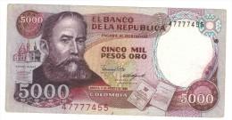 Colombia , 5000 Pesos 1986, VF+ - Colombia