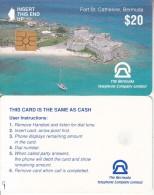 BERMUDA ISL. - Fort St. Catherine(reverse B Without CN), Chip GEM2.1, Tirage %13500, Used - Bermude