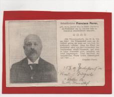 Postal Alemana Semana Trágica Barcelona 1909, Francisco Ferrer , Escuela Moderna - Barcelona
