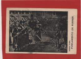 Postal Portuguesa Semana Trágica Barcelona 1909, Francisco Ferrer , Escuela Moderna , Lisboa 1916 - Barcelona
