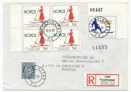 NORVEGE - 5 Enveloppes Affranchissements Thème SKI - 1975 / 1980 - Joli Ensemble - Winter (Other)