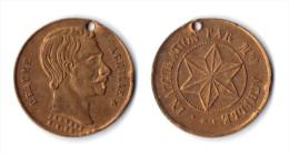 PARIS - JETON PUBLICITAIRE RECLAME - ACHILLE BEAUME. INAUGURATION PAR MME ACHILLE. 1860... - Monetari / Di Necessità