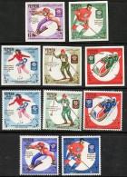 YEMEN 1968 GRENOBLE OLYMPICS Perf/imperf MNH CV18,00 EURO SKATING SKIING  A20 - Winter 1968: Grenoble