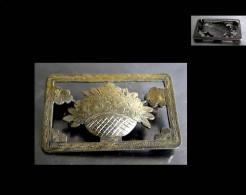 Broche Romantique De L´empire Austro-hongrois En Vermeil / Old Empire Gold-platted Silver Romantic Broach - Spille