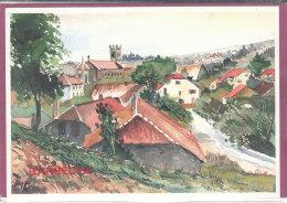 90.-  AUCHELLES-BAS .- Vue Depuis La Route De Giromagny  ( Illustr. C. Odile 200 Ex...) - France