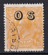 Australia 1932 King George V 1/2d Orange C of A Wmk OP OS Used