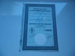 LABORATOIRES D´OPOCHIMIOTHERAPIE (capital 1,95 Million) TOULOUSE - Aandelen