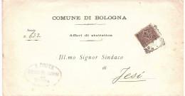 1902 CENT-1 SU AFFARI DI STATISTICA COMUNE DI BOLOGNA - Storia Postale