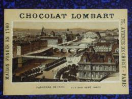 CHROMO CHOCOLAT LOMBART- Panorama De PARIS Vu Des Sept Ponts - Lombart