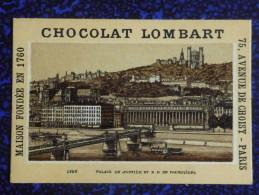 CHROMO CHOCOLAT LOMBART- LYON, Palais De Justice Et N.D De FOURVIERES - Lombart