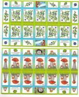 LATVIA - 2008 - Mushrooms And Berries --MINI SHEET MNH - Champignons