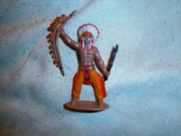 FIGURINE PLASTIQUE  CHEF INDIEN - Figurines