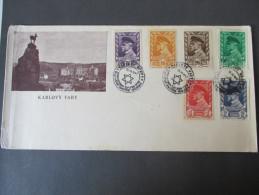 Sonderbeleg Karlsbad. 1947 Zionisten Organisation. Sonderstempel. Zionism. Judenstern. Satzbrief. - Briefe U. Dokumente