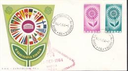 Europa Cept 1964 Italy 2v  FDC (F2487) - 1964