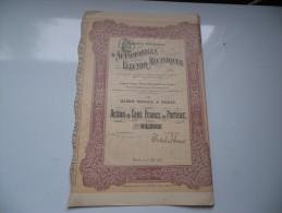 Générale D' AUTOMOBILES ELECTRO-MECANIQUES (100 Francs) 1907 - Hist. Wertpapiere - Nonvaleurs