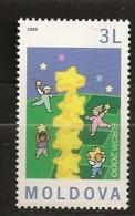 Moldavie Moldova 2000 N° 313 ** Europa, Colonne, Enfants, Etoiles, Pièce De Monnaie, Euro, Jeux, Emission Conjointe - Moldova