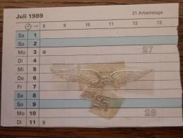 Luftwaffe Adler Auf Papier Geklebt - Vignet. - Germania