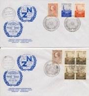 2 Enveloppen Verenigde Naties (1970) - Period 1949-1980 (Juliana)