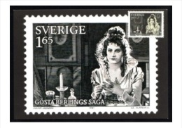 FILM MOVIE STARS GRETA GARBO SWEDEN 1981 PHQ  With Garbo Stamp Engraved By Slania - Cinema