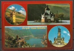 Deutschland Ansichtskarte Gruss Vom Rhein Unbenutzt Sauber - Deutschland