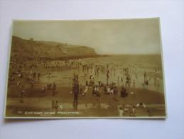 Folkestone East Cliff Sands Real Photo  Old Postcard (#19) - Folkestone