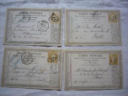 Lot De 4 CPA Précurseur Vers 1880 Cérès - 1876-1898 Sage (Type II)