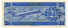 NETHERLANDS ANTILLES 2 1/2 GULDEN 1970 Pick 21a Unc - Netherlands Antilles (...-1986)