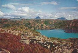 Looking Across Loch Roe To Suilven & Canisp, Sutherland, Scotland - Colourful Scotland 108 Unused - Sutherland
