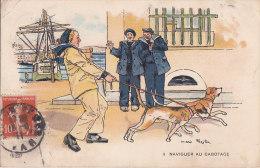 Al - Cpa Illustrée PEZILLA - Naviguer Au Cabotage (marins, Chiens) - Umoristiche