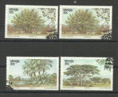 VENDA - 1983 TREES SET OF 4 CTO  Sc 88-91 - Venda