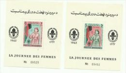 AFGHANISTAN - 1963 WOMEN;S DAY SOUVENIR SHEETS PAIR MLH * - Afghanistan